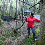 Hanging the tarp