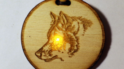 Light Up Wolf Medallion